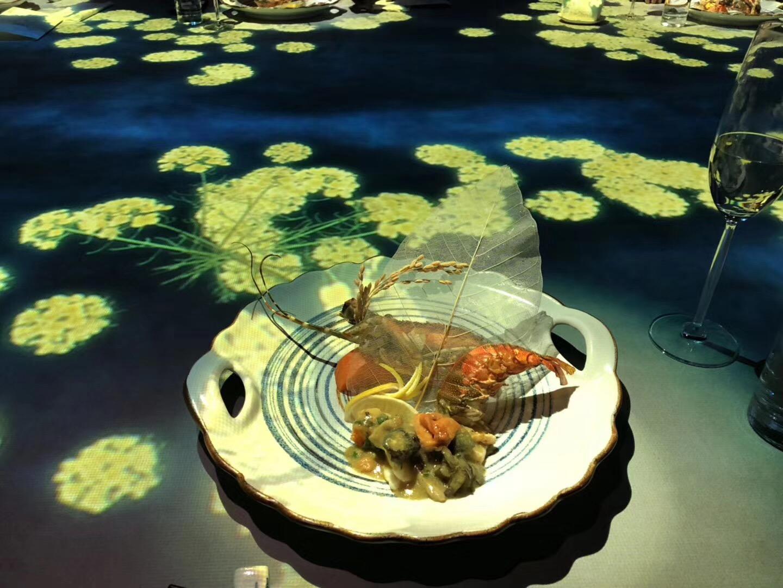 意京餐厅沉浸式投影